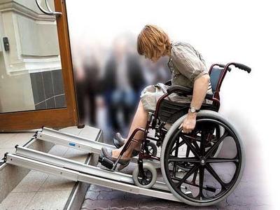 Пандус для инвалидных и детских колясок