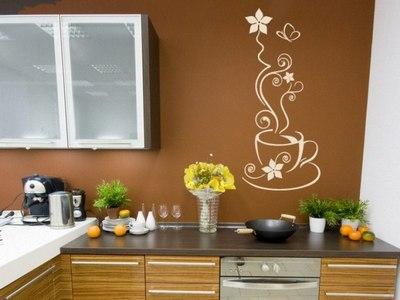 Тематическая наклейка на кухне на стене