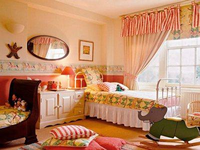Детская комната в терракотовом цвете
