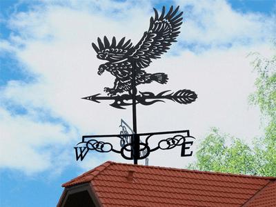 Крепление флюгера к крыше