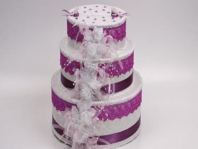 Сундук для денег на свадьбу в виде торта