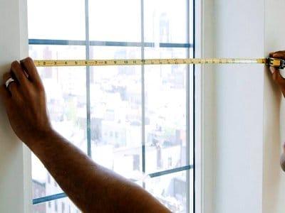 Измерение площади стены с окном