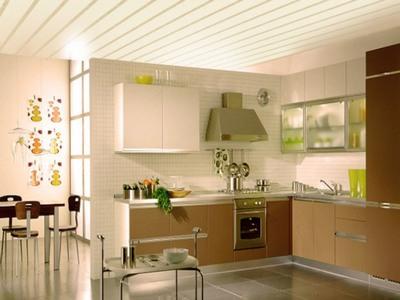 Панели на потолке на кухне