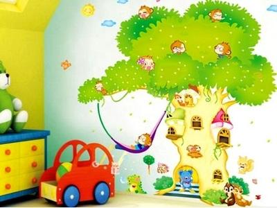 Большая наклейка на стену в детской