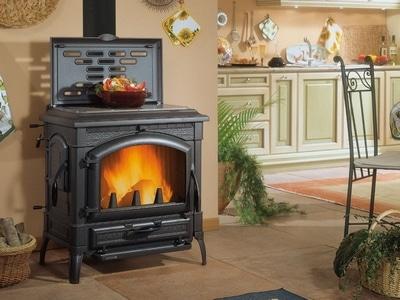 Печь на дровах для отопления дома