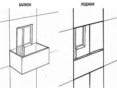 Схема балкона и лоджии