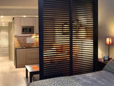 Используем гипсокартонные декоративные перегородки для зонирования пространства в комнате - фото готовых вариантов