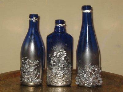 Декупаж различных форм бутылок