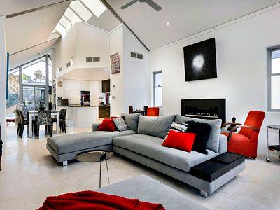 Модной дизайн гостиной комнаты