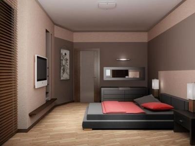 Формируем уютную зону отдыха с применением работ от лучших дизайнеров: интерьер спальни - фото в теплых тонах