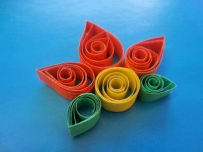 Создание цветка в технике квиллинг