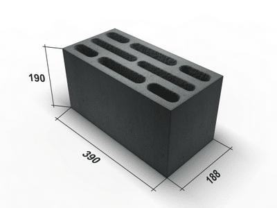 Керамзитобетонный блок размеры