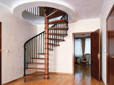 Строим двухэтажный дом: компактная винтовая лестница на второй этаж в частном доме - фото прилагается