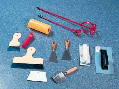 Набор инструментов для шпаклевания стен