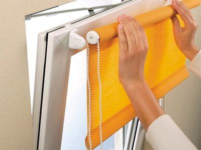 Красота в доме своими руками: рулонные шторы на пластиковые окна без сверления - способы установки