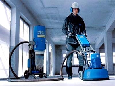 Профессиональная машинка для шлифования бетона
