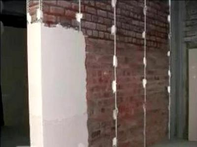 Штукатурка кирпичной стены цементом