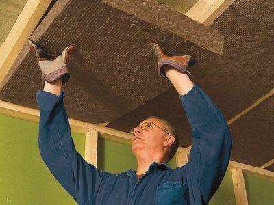Минеральная вата для шумоизоляции потолка
