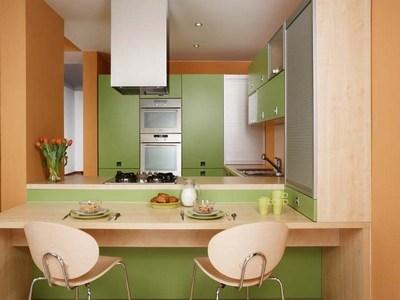 Сочетание зеленого и бежевого