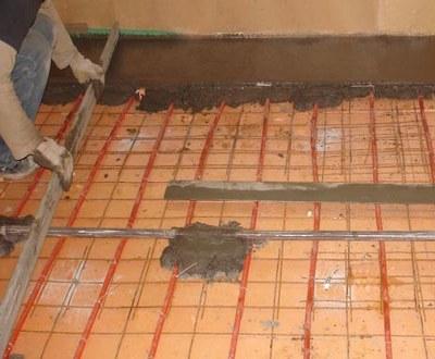 Утепление бетонного пола пеноплексом