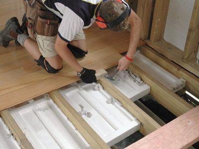 Утепление деревянного пола пенополистиролом