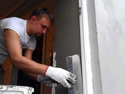 Оштукатуривание дверного проема
