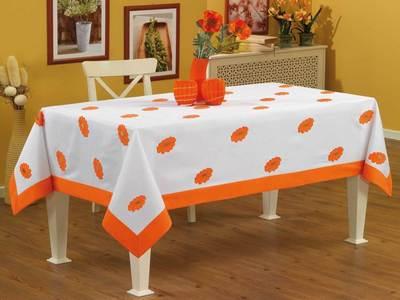 Скатерть из хлопка для прямоугольного стола