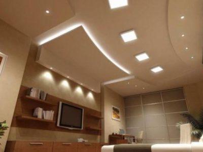 Красивый ремонт своими руками: потолки из гипсокартона - фото необычных подвесных конструкций сложного типа