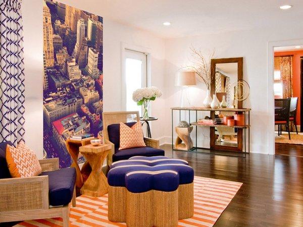 Модный дизайн гостиной