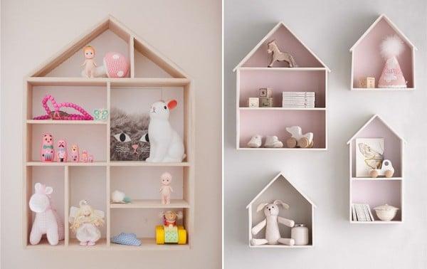 Полка домик для игрушек