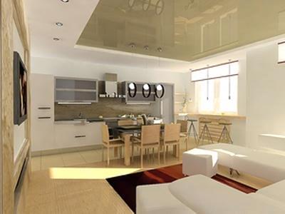 кухня совмещенная с гостинной