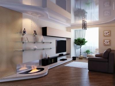 Светлые гостиные в современном стиле