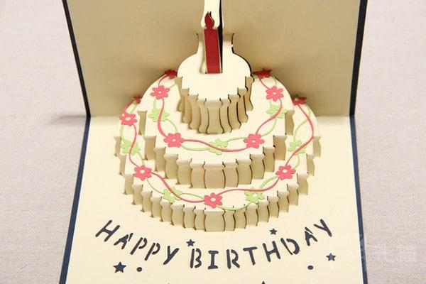 киригами торт шаблон