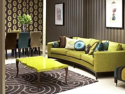 Дизайн комбинированных обоев для гостиной