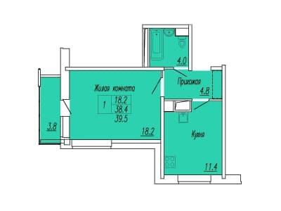 коэффициент площади балконов и лоджий
