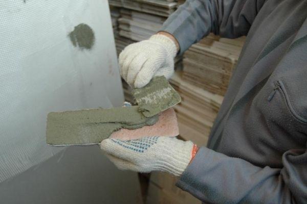отделка угла декоративным камнем