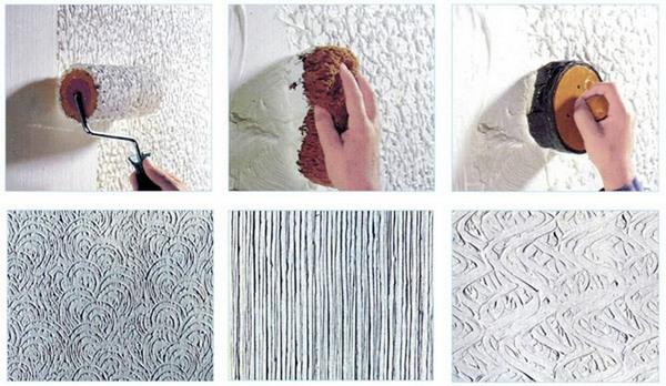Декоративная шпаклевка как наносить узор
