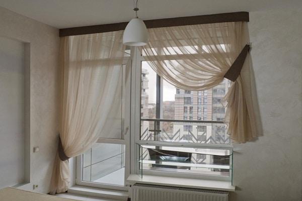 тюль для спальни с балконной дверью