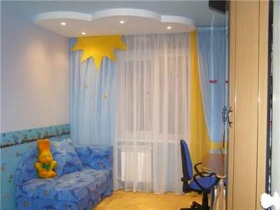 шторы в детскую с балконом