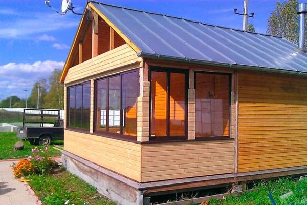 теплая веранда пристроенная к дому