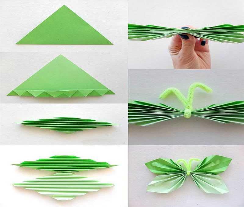 Гофрированные бабочки из бумаги на стену своими руками 75