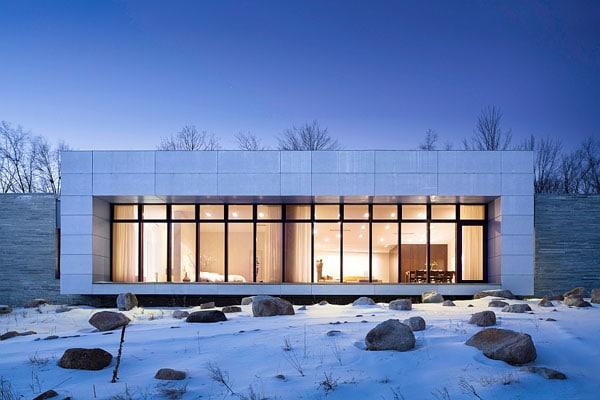 коттедж с панорамными окнами