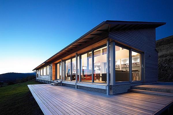 красивые дома с большими окнами