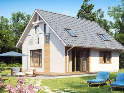 проект одноэтажного дома с эркером