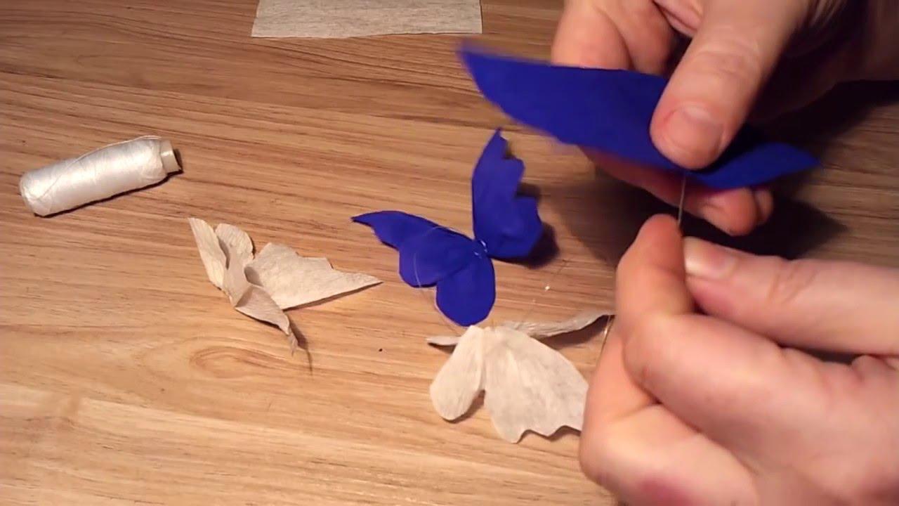 Гофрированные бабочки из бумаги на стену своими руками 62