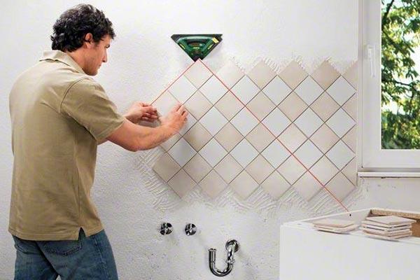как положить мозаику на кухне