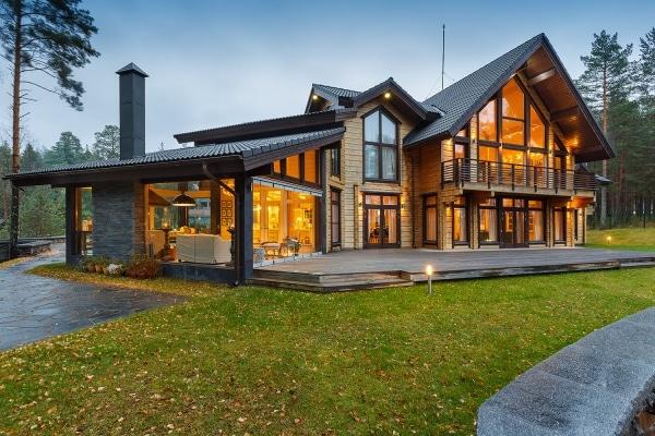 проект загородного дома с террасой
