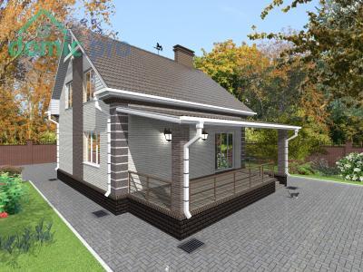 проект дома с террасой на крыше