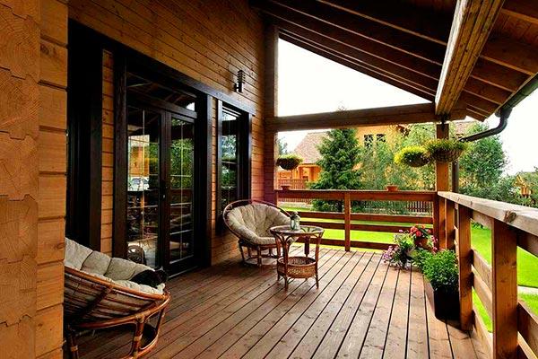 проекты домов с верандой и террасой