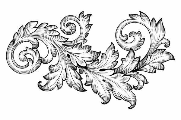 рисунки для резьбы по дереву растительный орнамент